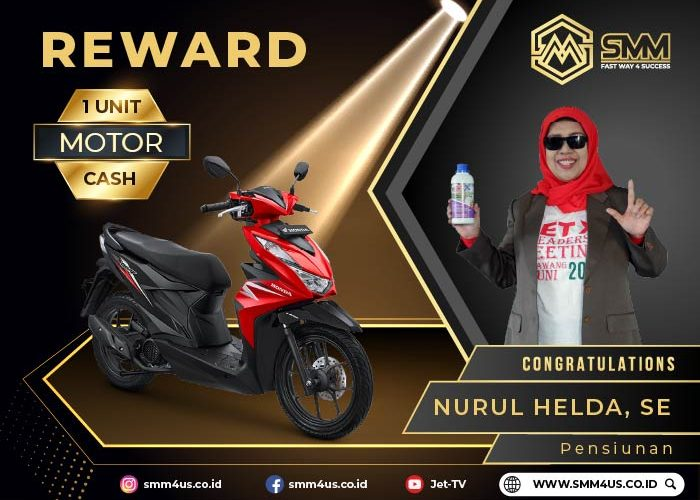 NURUL HELDA – 1 UNIT MOTOR CASH