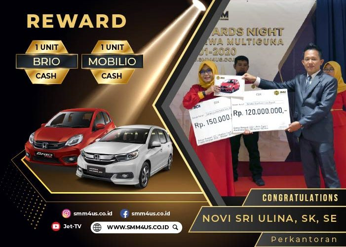 Novi Sri Ulina Pemenang 1 Unit Mobilio Cash dan 1 Unit Brio Cash
